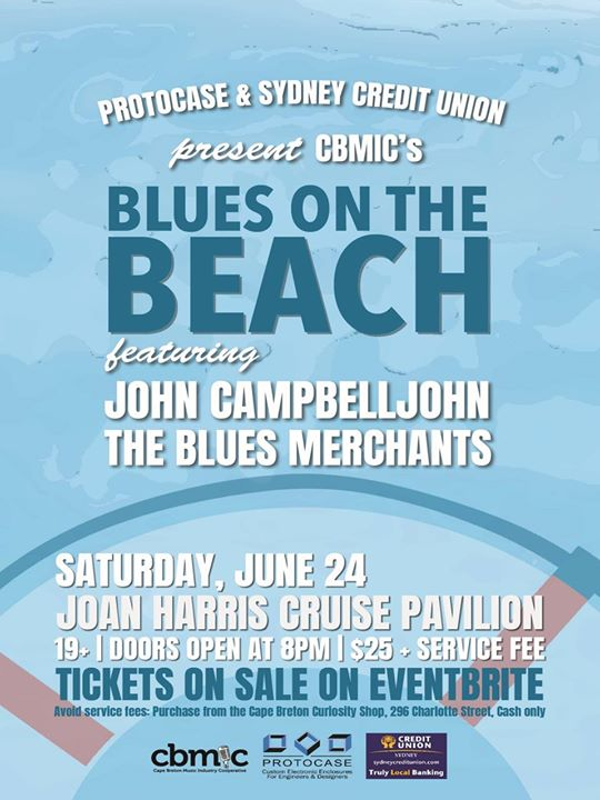 blues on the beach